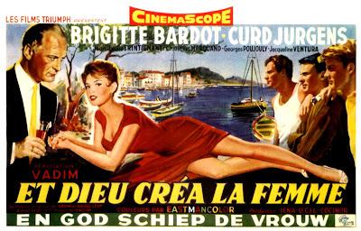 movie posters et dieu cr a la femme 1956. Black Bedroom Furniture Sets. Home Design Ideas