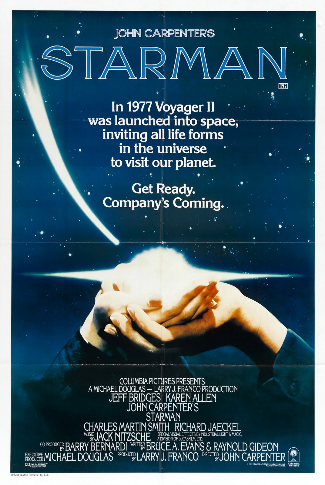 Movie posters starman 1984 for Poster et affiche