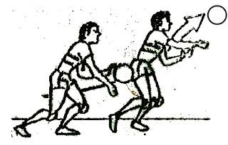 Setelah memukul bola, pindahkan
