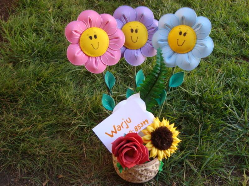 Manuarte ck flores de goma eva - Flor de goma eva ...