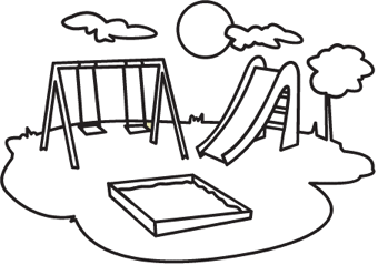 Playground Coloring Book Pages