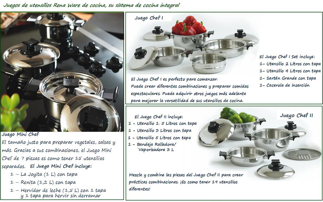 Rena ware cocina por inducci n linea de juegos chef for Precios de utensilios de cocina rena ware