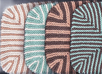 Striped 4-Corners dishcloths