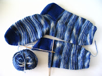 Blue socks in progress