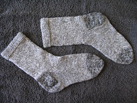 pair of small grey socks