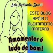 """Este Blog apóia o Aleitamento materno - Aleitamento materno é tudo de bom!""""."""