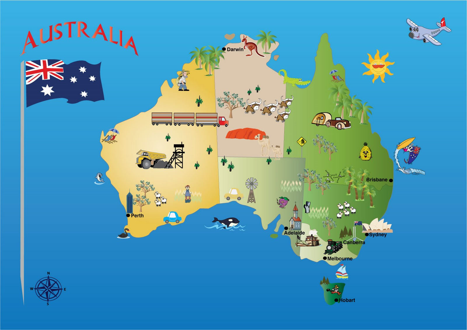 Michelles Creative Blog Australia Map For Kids Years Old - Map of australia for kids
