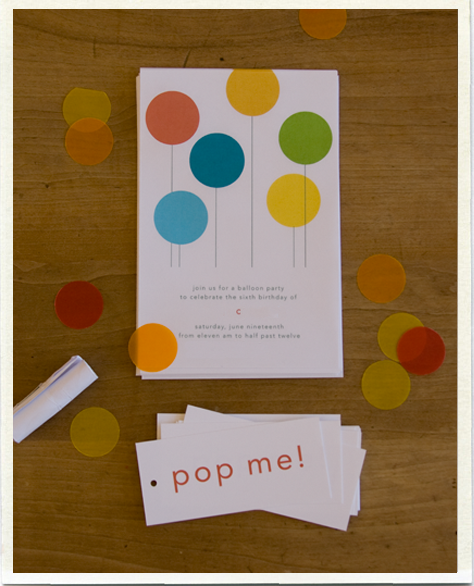 LOL Letterpress: !POP! kids birthday invitations