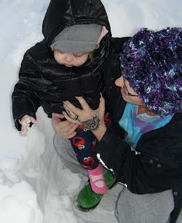 Sasha with Snow