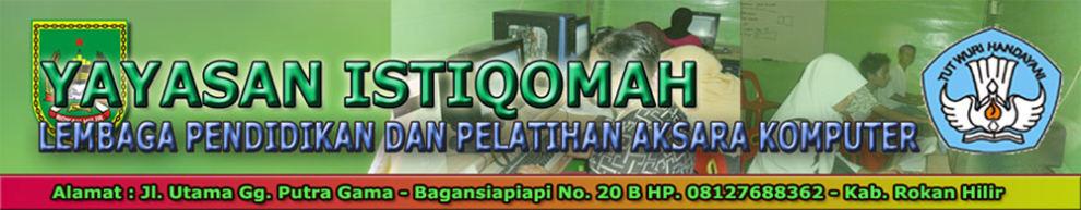 Yayasan Istiqomah LPP Aksara Komputer