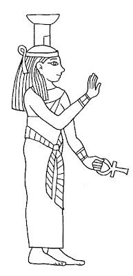Egipcios para colorir