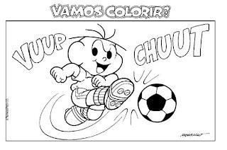 cebolinha jogando futebol