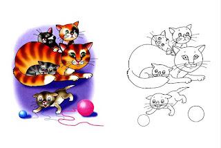 Gato para imprimir e colorir