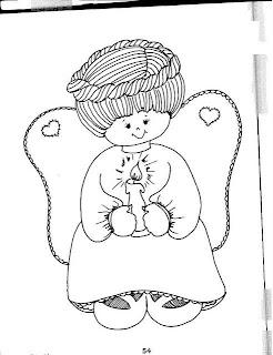 Desenho Para Colorir Anjos natalinos e palhaços para pintar e colorir