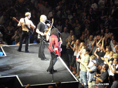 On the catwalk; Downstage Thrust Tour 2007