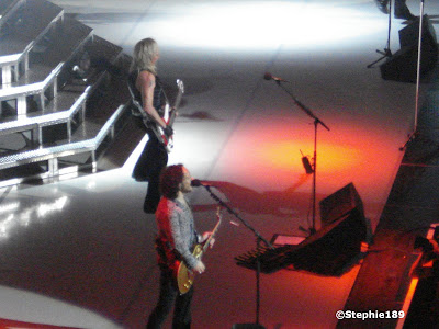 Vivian Campbell, Rick Savage! Def Leppard, taken from the nosebleed seats.