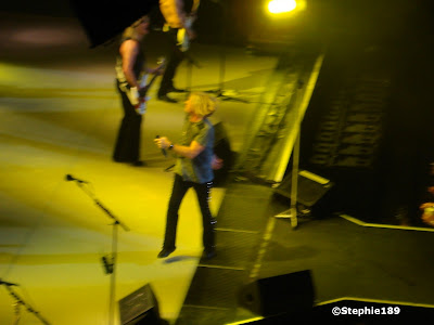 Joe Elliott, part of Rick Savage, part of Phil Collen -- sorry guys, that huge speaker was in the way. Def Leppard 2007!