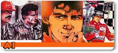 Ayrton Senna, ex-piloto de Formula 1 em mangá by infoanimation.com.br