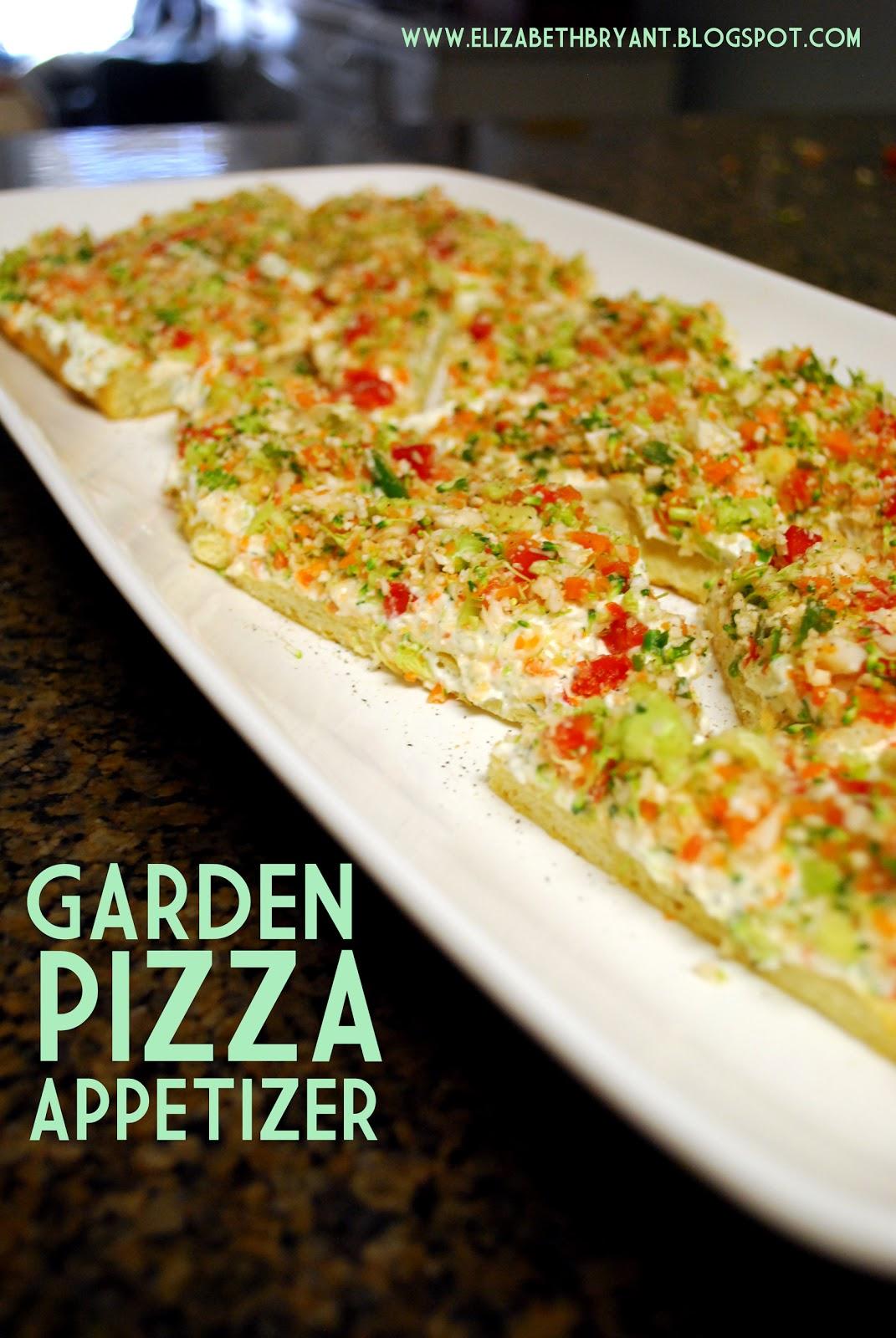 garden pizza appetizer
