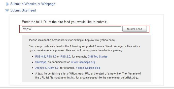 submit website และ sitemap ง ายๆ ก บ yahoo ความร seo บทความ
