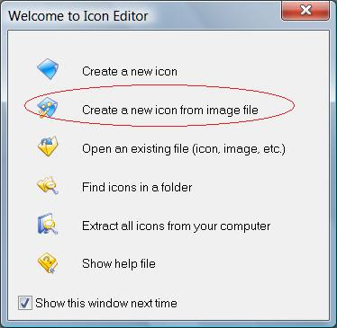 Create a new icon from image