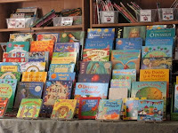 Books displayed on shelf