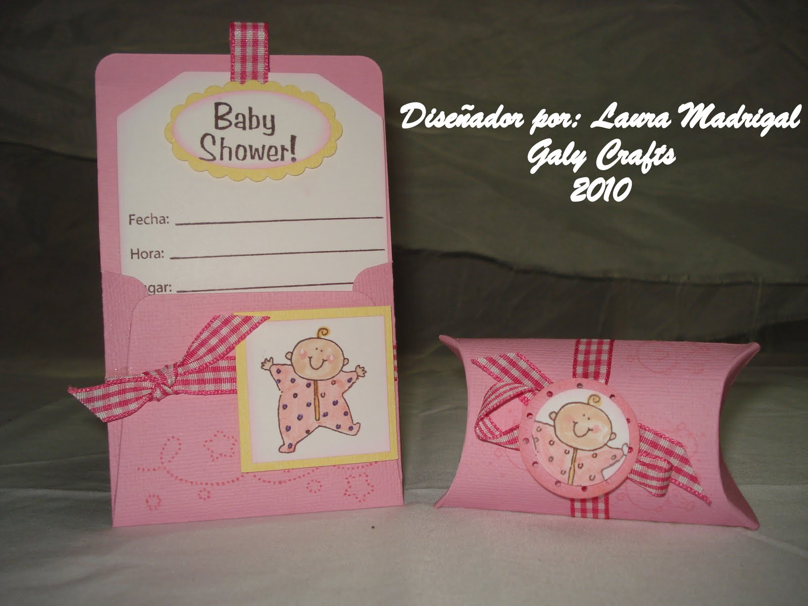 Tarjetas Boutique Galy Crafts: Tarjetas de Baby Shower para niña ...