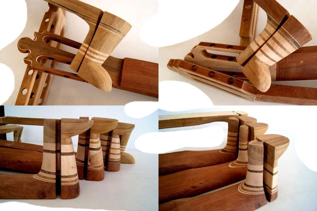 TUNING MACHINE HEAD AND HEEL DESIGNING OF WAVE FILTERING LAYERS OF DIFFERENT WOOD DENSITIES