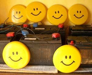 Happy solar batteries