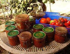 A dozen pots of Bolognaise sauce sterilised ready for the cellar