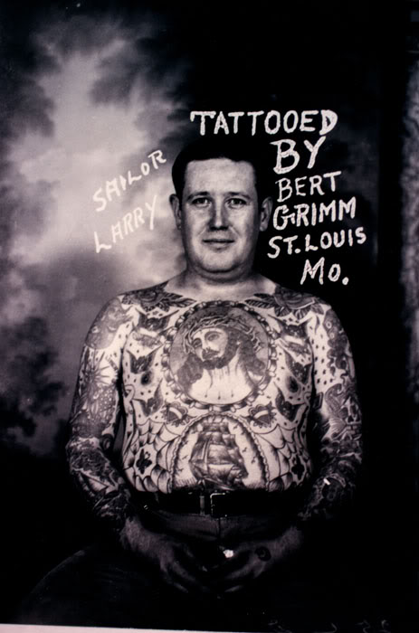 Sailor Larry, tattooed by Bert Grimm