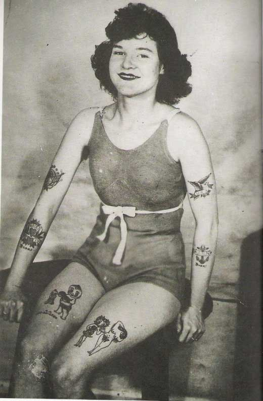 Want some good old time vintage tattoo photos to hang on your walls?