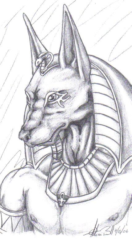 Jackal Head Tattoo Animals Mummifi...