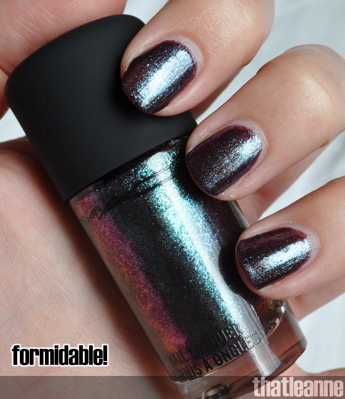 MAC Venomous Villains nail polish swatches | Easy Nail Art