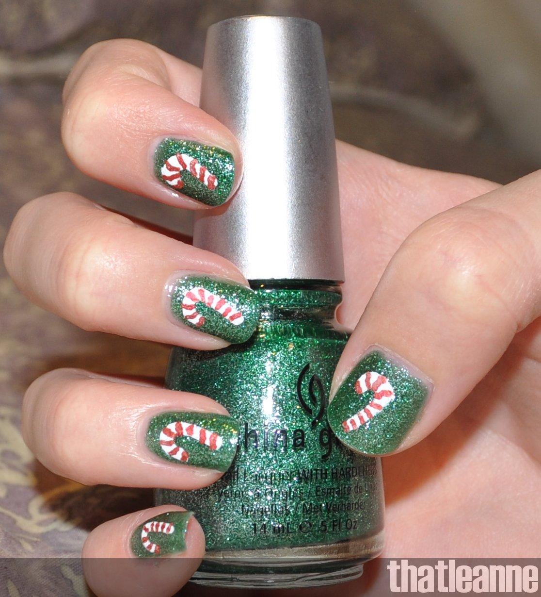 candycane nail tips.