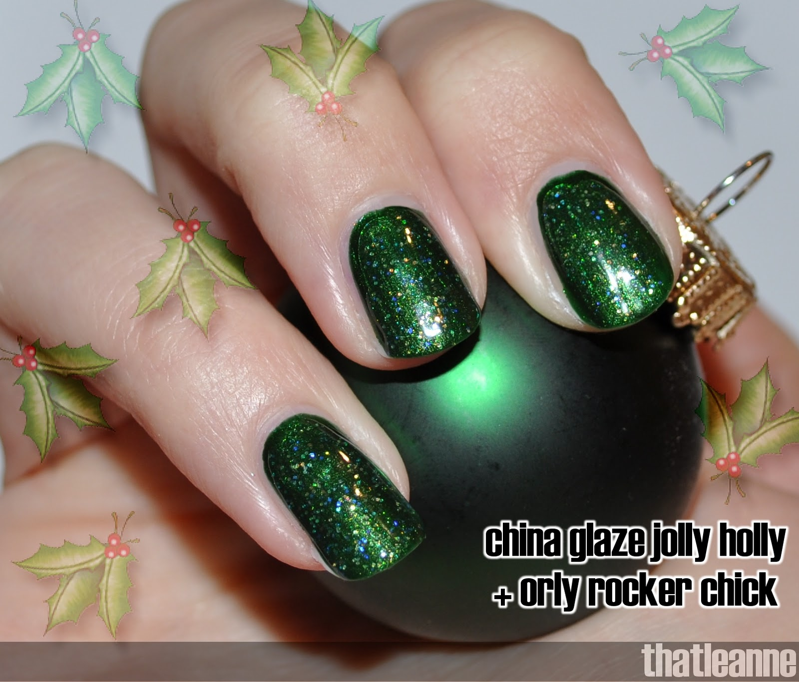 thatleanne: Day 23 of the Nail Polish Advent Calendar: Holly Toledo!