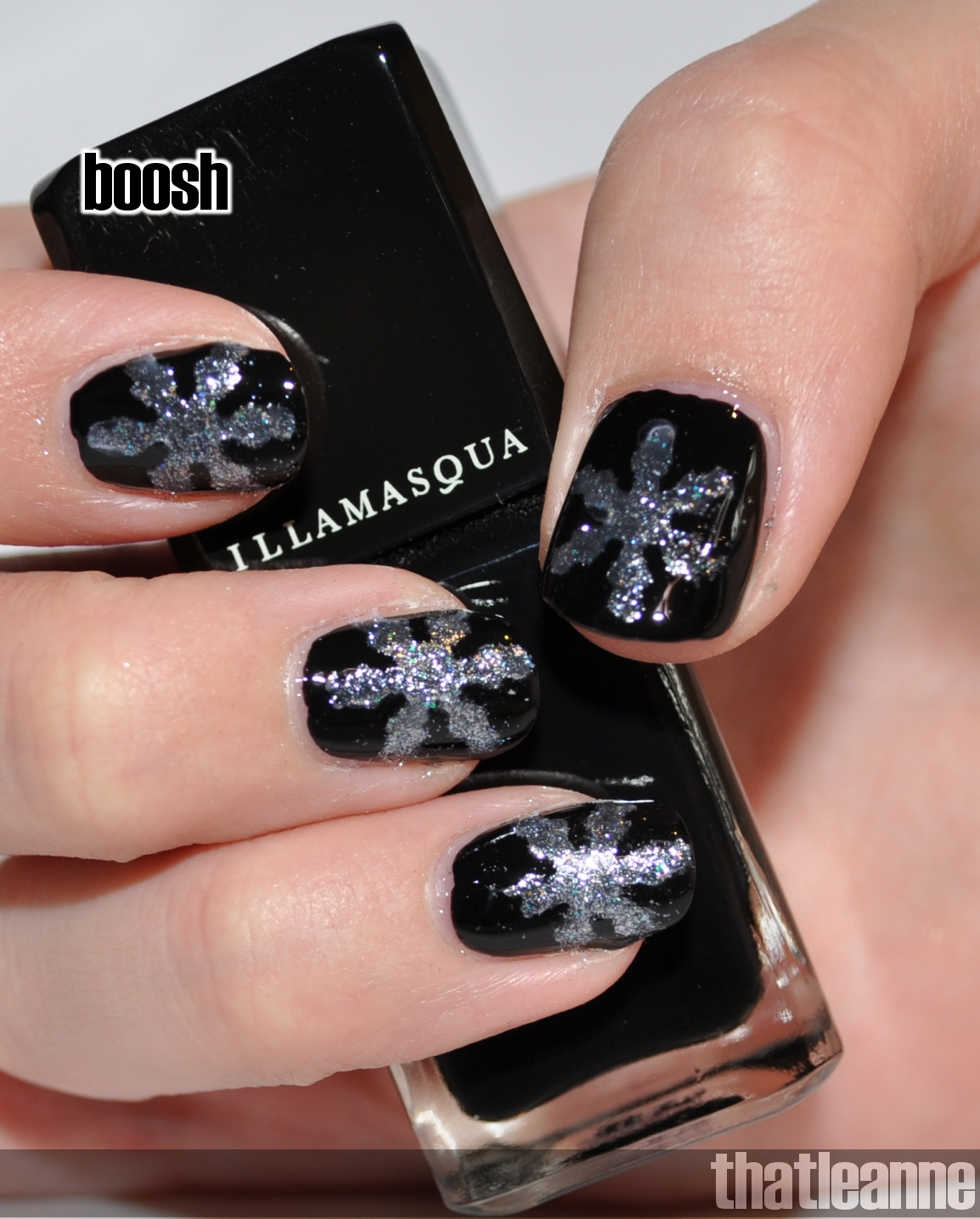 Thatleanne Chococat Nail Art: Thatleanne: Illamasqua Boosh With A Touch Of Winter