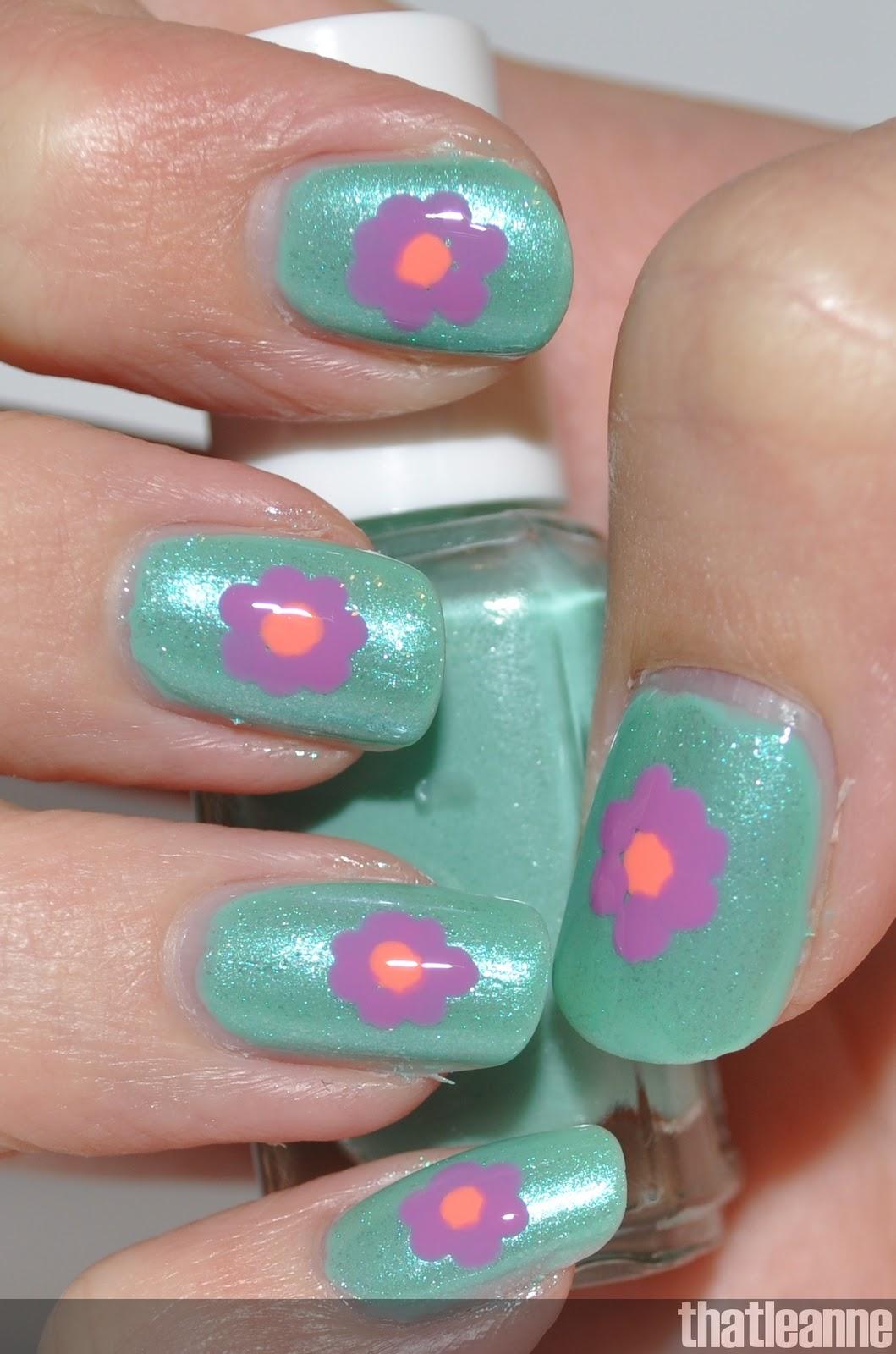 Thatleanne Flower Power Nails For Spring