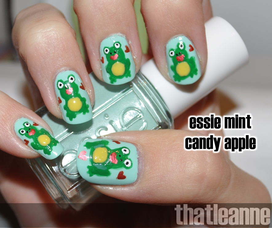 Frog Nail Art: Thatleanne: February 2011