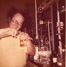 Indignant Chemist in his research lab 1972