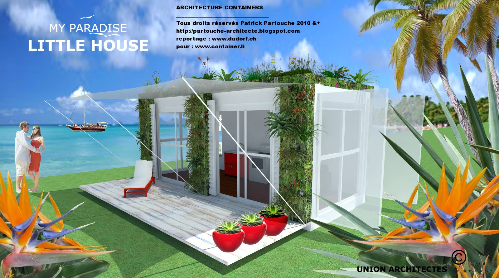 Pin containers bungalows on pinterest for Conteneur maison maroc