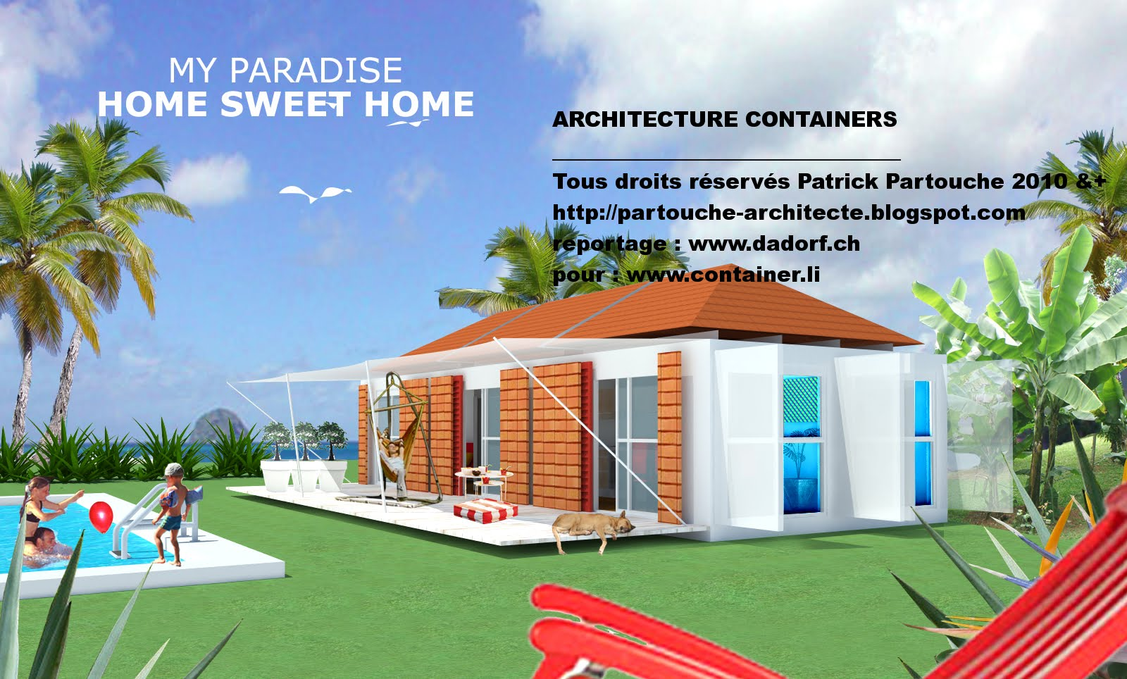 Patrick partouche bungalows container conteneur for Maison container 59