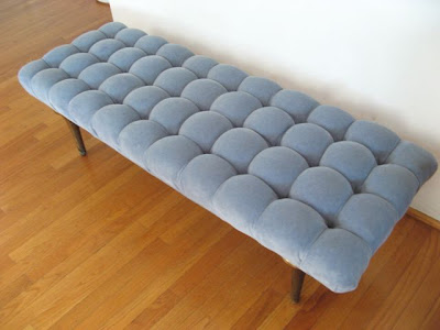 Hollywood Regency Vintage tufted Bench