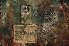 Astrid Barfod. Detalle de un óleo/collage