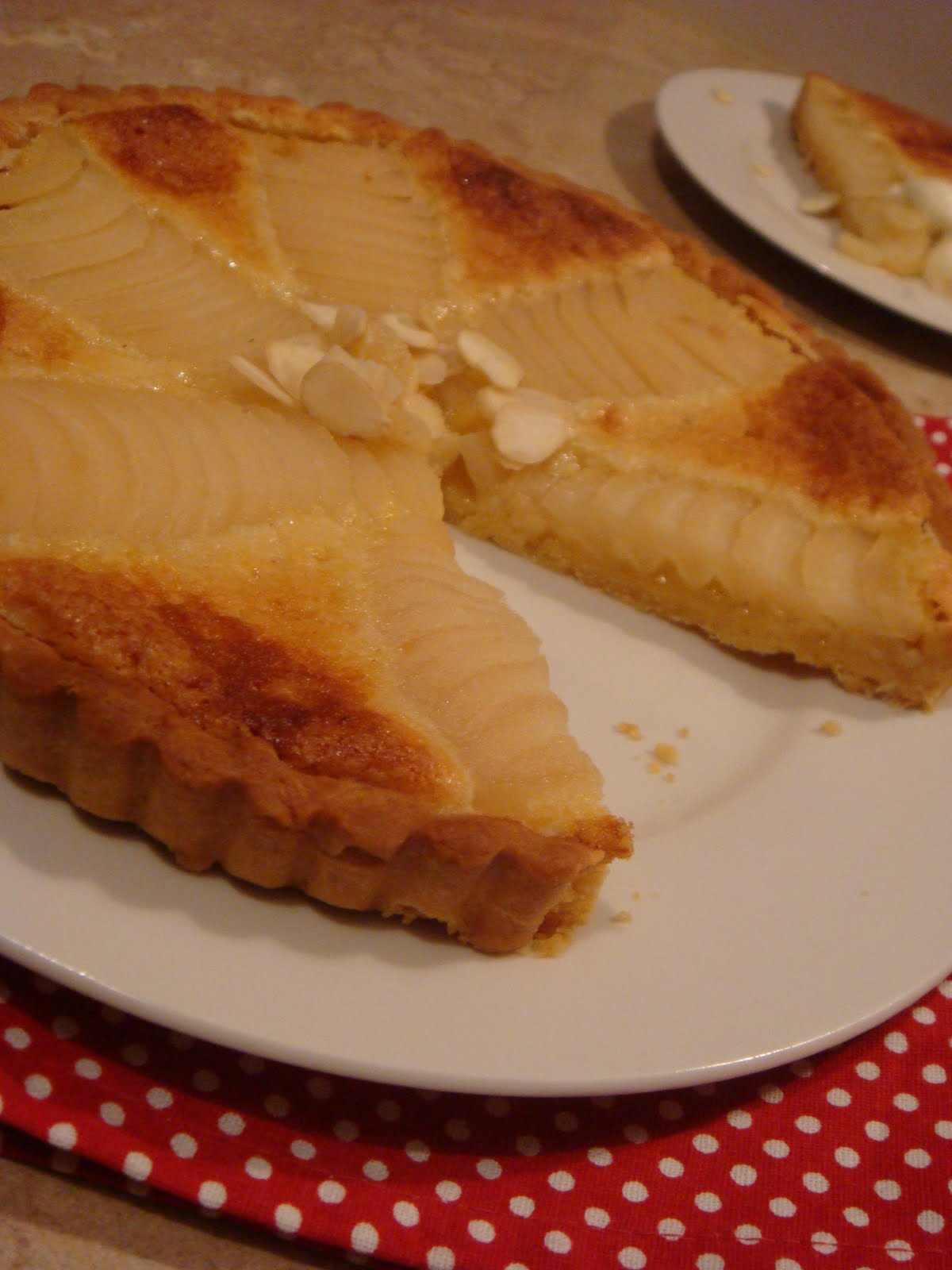butter hearts sugar: Pear and almond tart