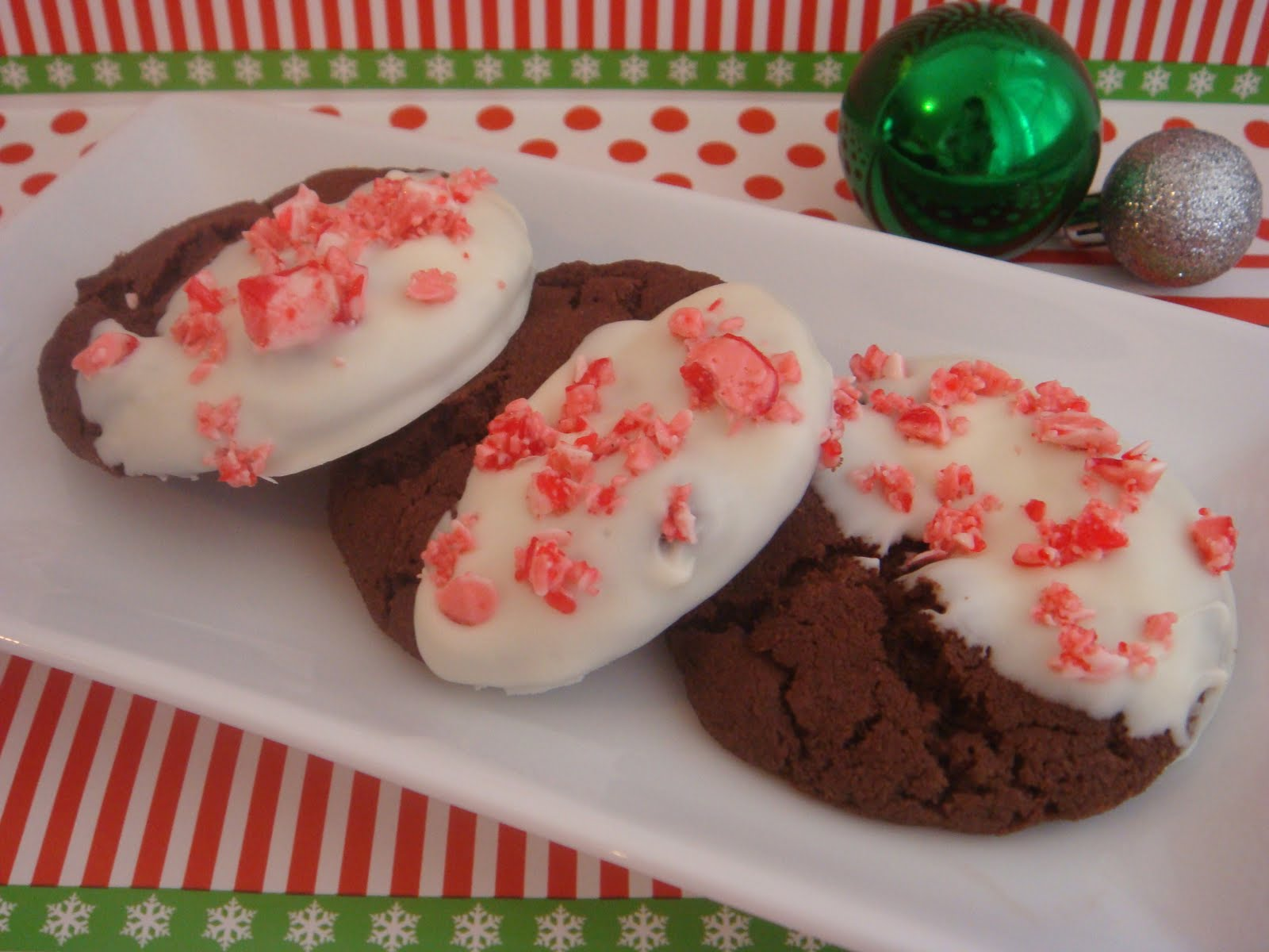 butter hearts sugar: Chocolate Candy Cane Cookies