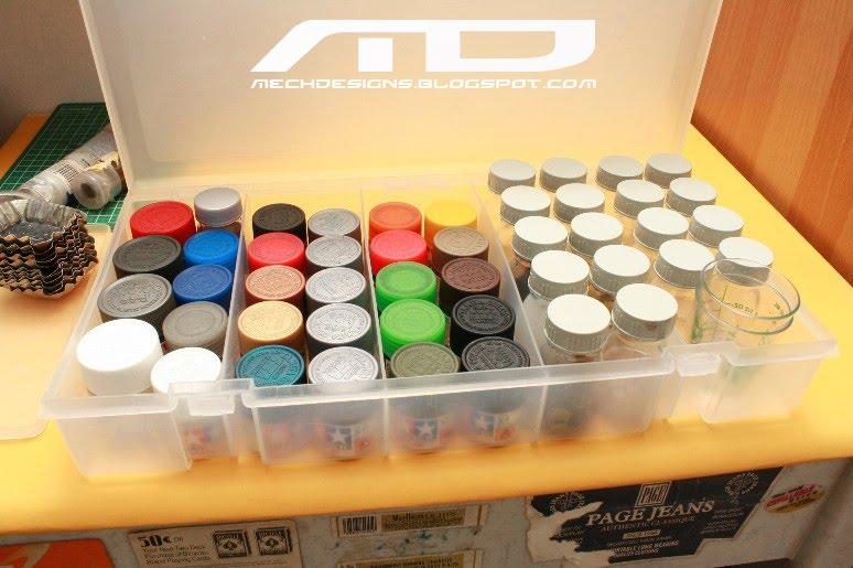 & mechdesigns: Paint box storage
