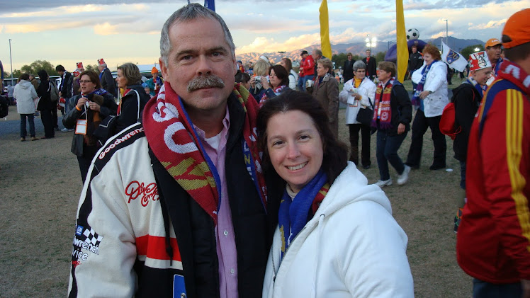 My honey, Mark Harnish and I at the Real Salt Lake soccer game