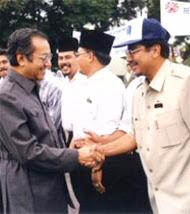 With Tun Mahathir