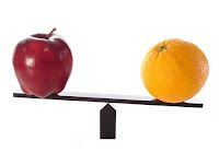 Comparing Apples and Oranges - Image Source: Diditwith.net